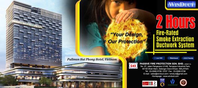 Giải pháp chống cháy ống gió cho khách sạn